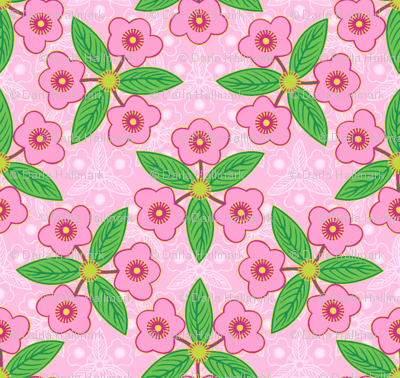 efflorescence in pink