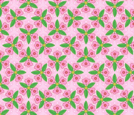 efflorescence in pink fabric by hannafate on Spoonflower - custom fabric
