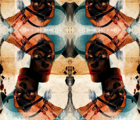 Beautiful African Woman Batik fabric by libertydesigns on Spoonflower - custom fabric