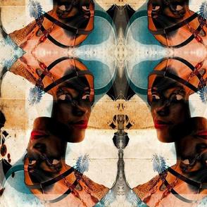 Beautiful African Woman Batik