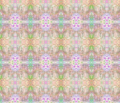 Hamsa Matrix 1 fabric by cyberfiber on Spoonflower - custom fabric