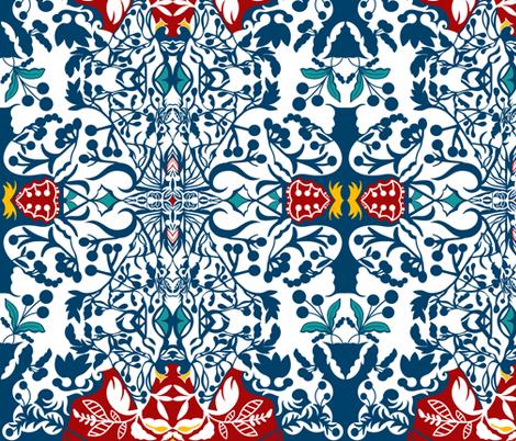 Indigo kilim sewindigo fabric by sewindigo on Spoonflower - custom fabric