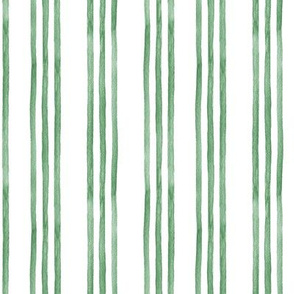 Green and White Watercolor Stripes