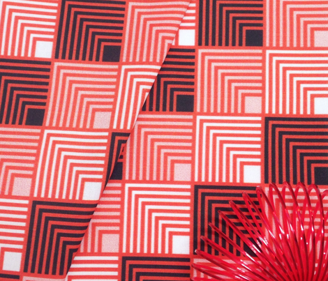 Concentric Frame - Pop Red B