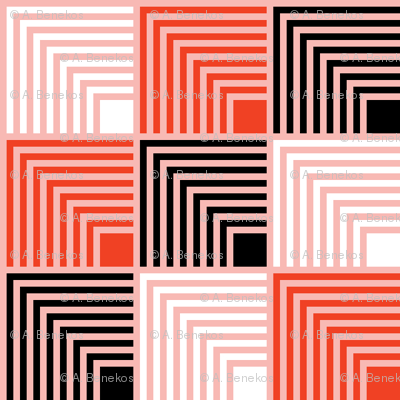 Concentric Frame - Pop Red C