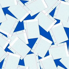 Notebook Paper Scatter - Blue