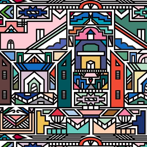 Ndebele Village fabric by elliottdesignfactory on Spoonflower - custom fabric