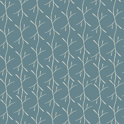 Blue Twigs fabric by looshdesign on Spoonflower - custom fabric