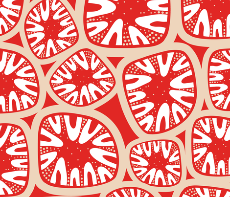 red cells fabric by nanamira on Spoonflower - custom fabric