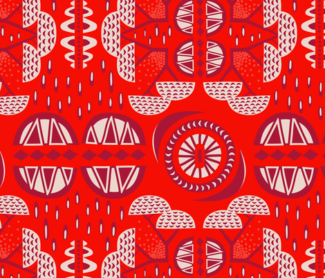 landscape of Africa fabric by nanamira on Spoonflower - custom fabric