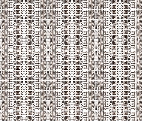 African Art Inspired Mud Cloth White-3 fabric by julia_faranchuk on Spoonflower - custom fabric