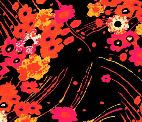 Splash Poppy fabric by coryallegory on Spoonflower - custom fabric