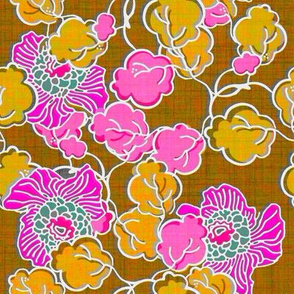 Hot pink and yellow floral