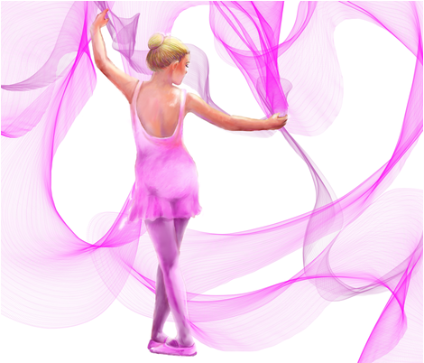 Dancer FQ pink quilt panel fabric by wetpaint1 on Spoonflower - custom fabric