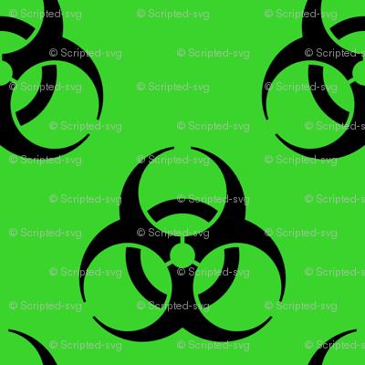 Biohazard Symbol 000000 On 3ad42d At 1514303485381 Wallpaper Svg