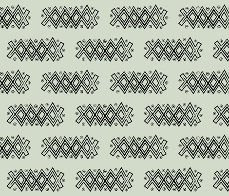 Monochrome Malian fabric by the_outfoxed on Spoonflower - custom fabric