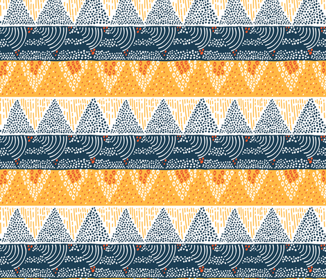 Mountain Sun by Sea Geometric Pattern fabric by tarynosaurus on Spoonflower - custom fabric