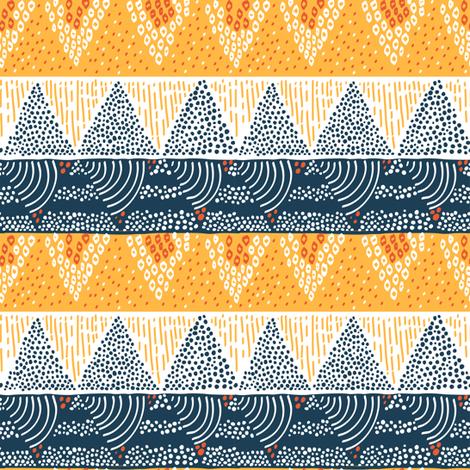 Mountain Sun by Sea Geometric Pattern fabric by tarynosaurus on Spoonflower - custom fabric