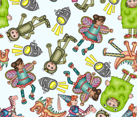 Children's Stage Production fabric by chappy_and_neko on Spoonflower - custom fabric
