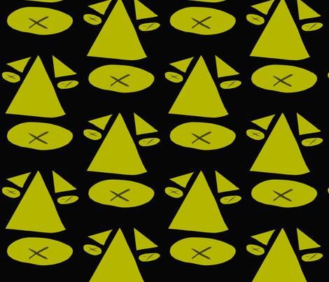 Spotlights on the X fabric by rhondadesigns on Spoonflower - custom fabric