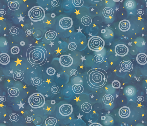 Bokeh Blue - Center Stage fabric by elramsay on Spoonflower - custom fabric