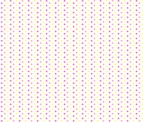 polka dots medium - Lemonade1 fabric by knitifacts on Spoonflower - custom fabric