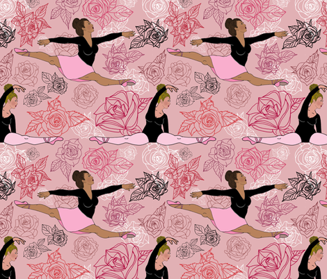Dance Rehearsal fabric by irishvikingdesigns on Spoonflower - custom fabric