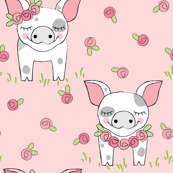 spotte pigs-with-roses-on-pink