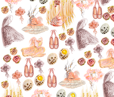 Ballet Dreams fabric by cutebugbubbles on Spoonflower - custom fabric
