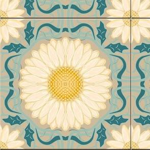 Spanish Floral Tile