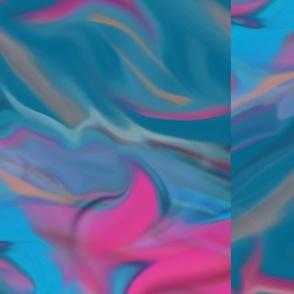 Blue Pink Blends Horizontal