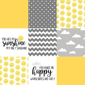 You are my sunshine - wholecloth cheater quilt