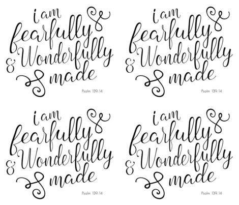 "fat quarter - 42"" width fabric - Fearfully and Wonderfully Made - black fabric by littlearrowdesign on Spoonflower - custom fabric"