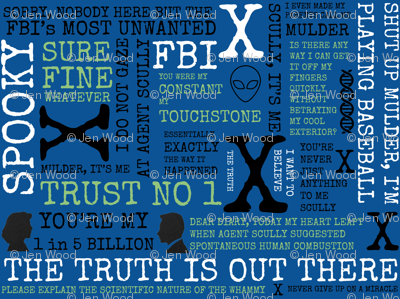 IWTB Spooky Agents X-Files Inspired - Blue