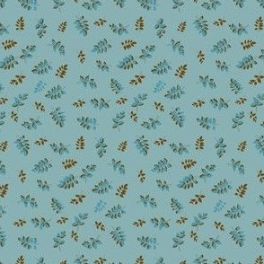 Blue and Brown Sprig