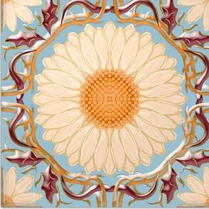 Spanish Floral Tile 2