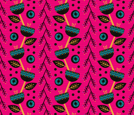 Flowers of Africa fabric by robyriker on Spoonflower - custom fabric