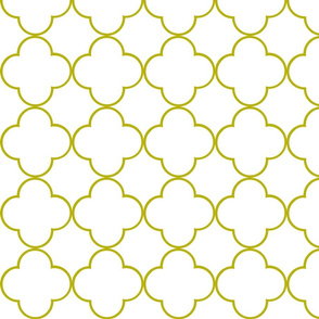quatrefoil 2 Medium -  white willow