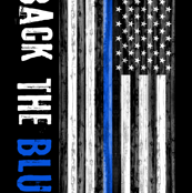 2 yard minky panel - back the blue- thin blue line