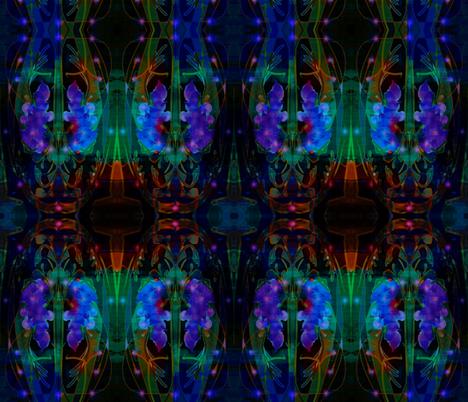 Midnight Wisteria Kilim fabric by antonialindseyart on Spoonflower - custom fabric