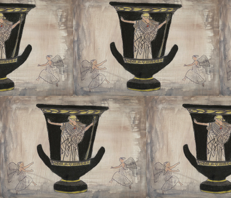 greek-ed fabric by art_by_d on Spoonflower - custom fabric