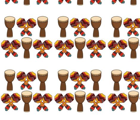 Kwanzaa Celebration fabric by terina_nicole_design_studio on Spoonflower - custom fabric