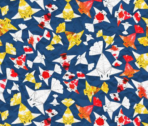 Paper Koi fabric by jadegordon on Spoonflower - custom fabric