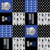 Police Patchwork  - thin blue line - back the blue wholecloth (90)