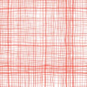 Prairie Gingham Faded Red