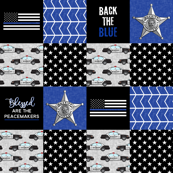 Sheriff Patchwork  - Blessed are the peacemakers - thin blue line - back the blue wholecloth