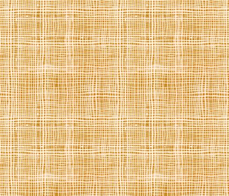 Prairie Gingham Gold fabric by katebillingsley on Spoonflower - custom fabric