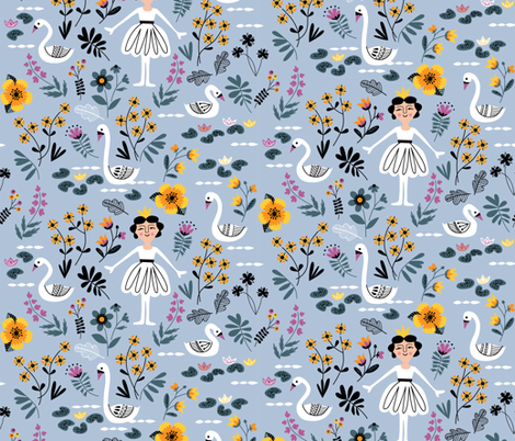 Swan Lake fabric by chris_jorge on Spoonflower - custom fabric