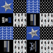 Sheriff Patchwork  - Blessed are the peacemakers - thin blue line - back the blue wholecloth (90)