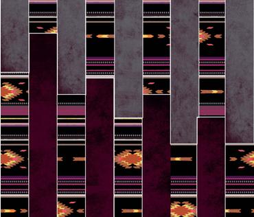 Beautiful Kilim pattern fabric by kkamini on Spoonflower - custom fabric
